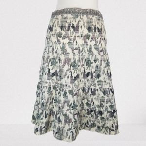 Tory Burch Leaf Midi Skirt.